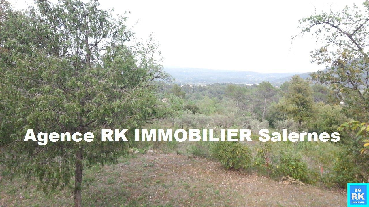 Terrain à bâtir 1 750 m² Salernes vue dominante