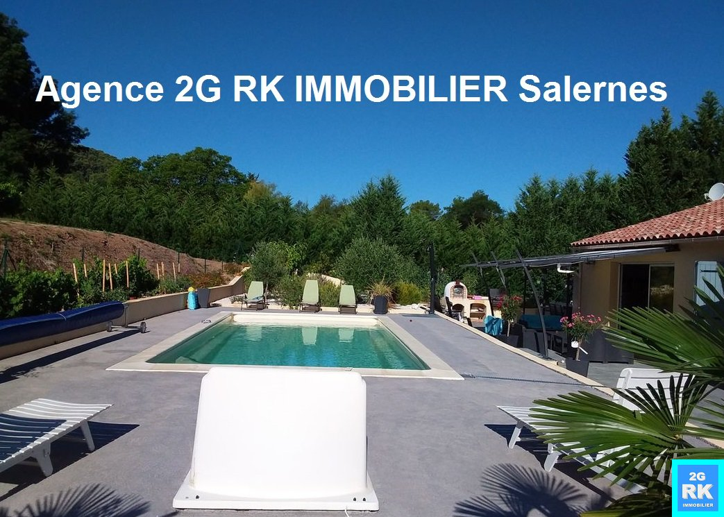 Villa neuve Salernes 146 m² hab. + piscine en campagne.