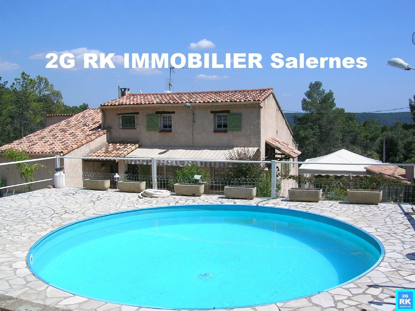 Villa 125 m² hab. sur 1,46 ha Sillans La Cascade.