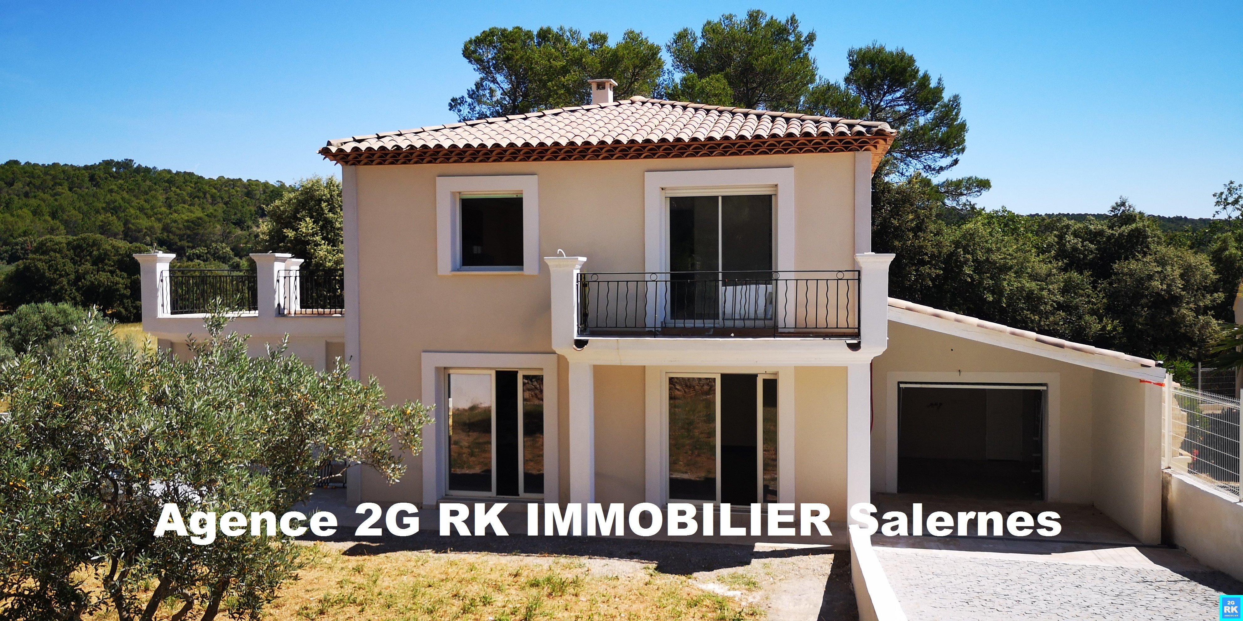 Villa neuve 120 m², 3 chambres et garage.