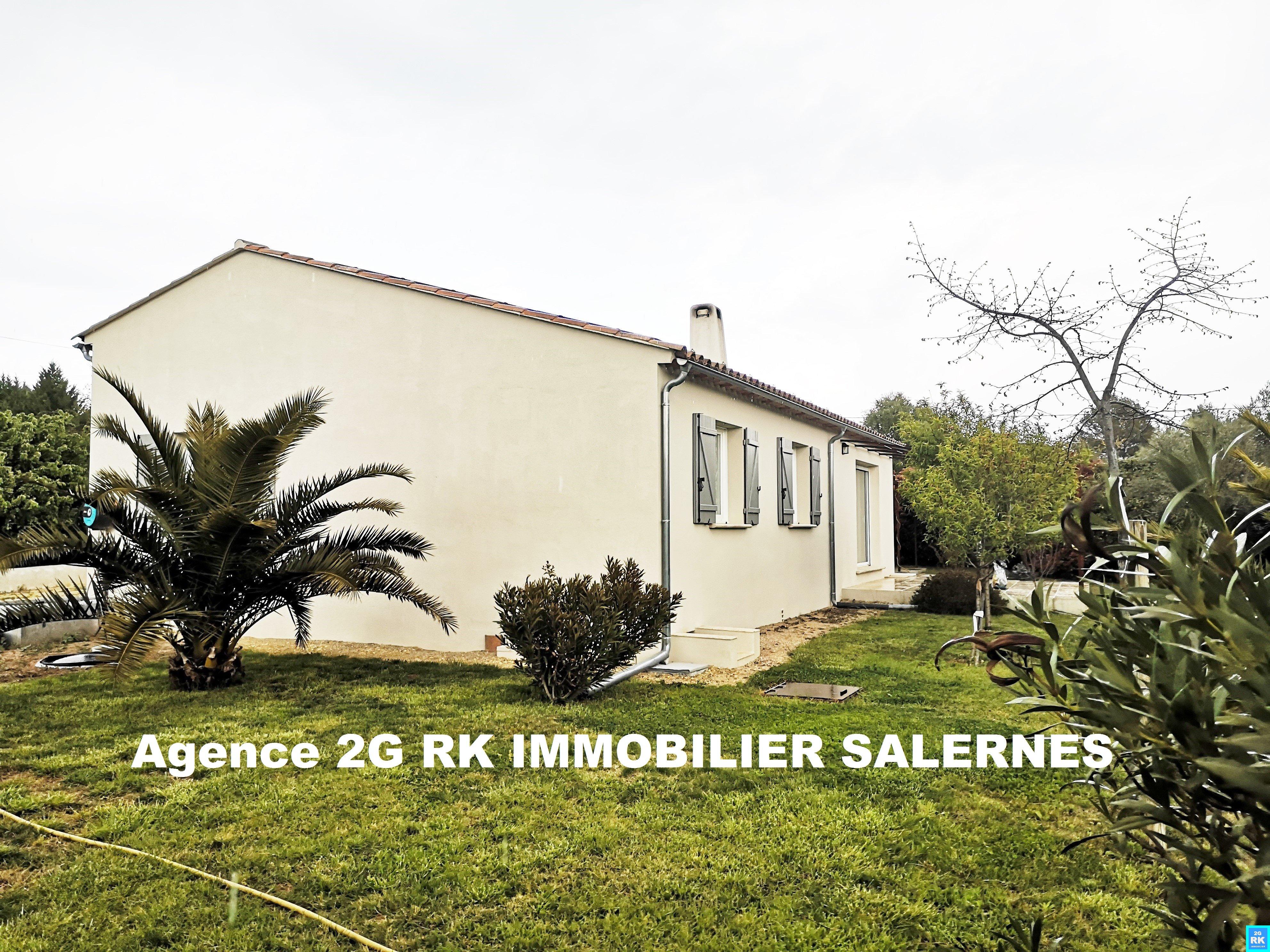 Villa récente 132 m² plain-pied, 4 ch., garage sur 1 205 m².